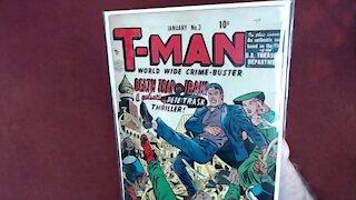 "Reading Comic Books: T-Man #3, ""Death Trap in Iran!"", 1952, Quality Comics, Golden Age [ASMR]"