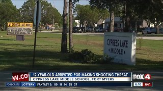 Middle school student arrested for writing threat on bathroom wall