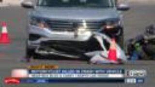 Motorcyclist dead after crash in Las Vegas
