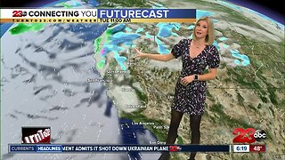 Seasonal to begin the week before our next winter storm impacts Kern County