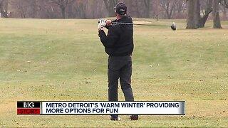 Metro Detroit's 'warm winter' providing more options for fun