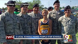 Moeller, Harrison high schools recognized for their support of military families, students