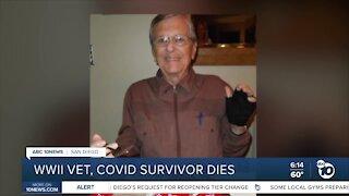 San Diego World War II veteran, COVID-19 survivor dies