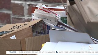 Baltimore curbside recycling pickups