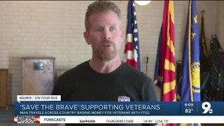 Former US Marine rides 4,600 miles for Save the Brave