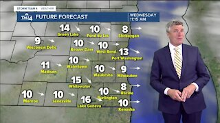 Cool temps and chance of rain Wednesday