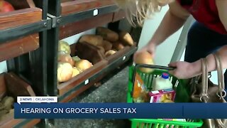 Hearing on Grocery Sales Tax