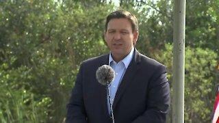 Florida Gov. Ron DeSantis makes environmental announcement in Miami