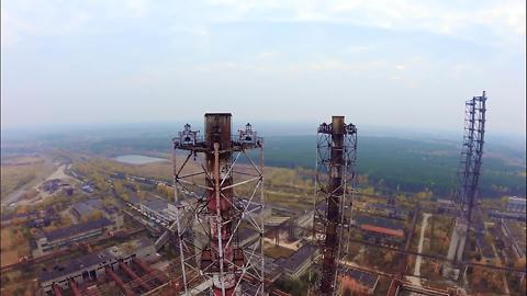 Drone footage captures mysterious abandoned Russian factory