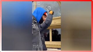 J6: Infiltrators Dressed as Trump Supporters Smashing Windows - 2556