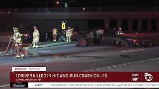 1 killed in Carmel Mountain hit-and-run crash