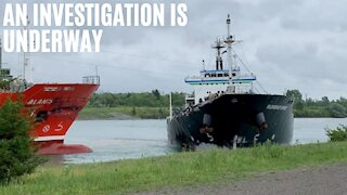 2 Massive Ships Smashed Into Each Other At An Ontario Canal This Weekend