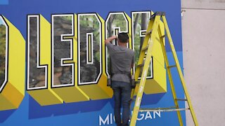 Downtown Grand Ledge is looking brighter thanks to a new mural in Bridge Street Plaza.
