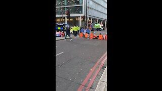 Insulate Britain Protestors At Bishops Gate