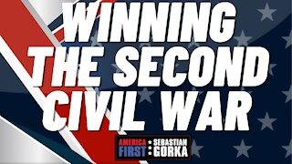 Winning the Second Civil War. Jim Hanson with Sebastian Gorka on AMERICA First