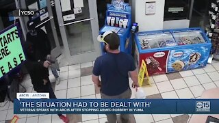 """Marine veteran disarms robber: """"The situation had to be dealt with"""""""