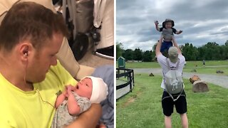 Epic comparison of dad with newborn vs. dad with toddler
