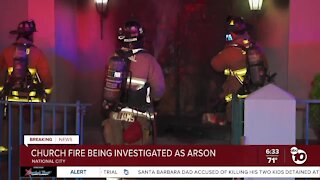 Fire at National City church investigated as arso