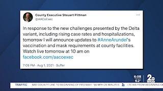 Anne Arundel County mask update