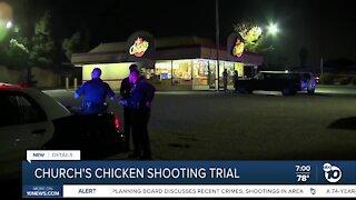 Church's chicken shooting trial