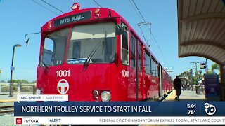Northern Trolley service to start in fall