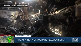 Fire at Arizona Democratic Party building in Phoenix being investigated as arson