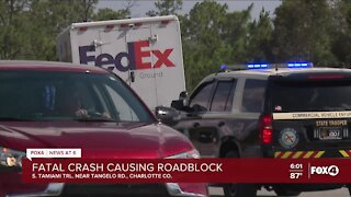 Fatal crash closes southbound lanes of Tamiami Trail at Tangelo Road