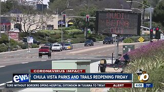 Chula Vista parks and trails reopening Friday