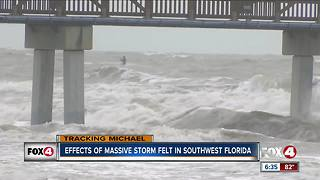 Storm surge brings heavy surf, more visitors to Fort Myers Beach