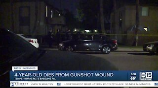 4-year-old Tempe girl dead after accidental gunshot wound