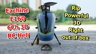 Eachine E160 3D RC helicopter RTF Review Maiden 3D Flight