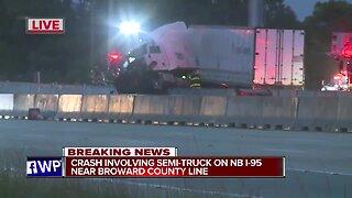 Crash closes northbound lanes of I-95