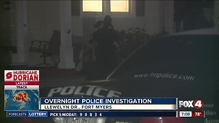 Fort Myers POlice conduct investigation on Llewelyn Drive