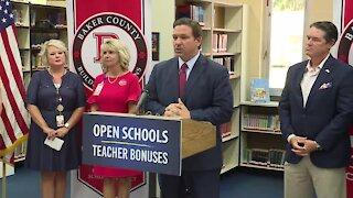 Florida Gov. Ron DeSantis makes education announcement near Jacksonville