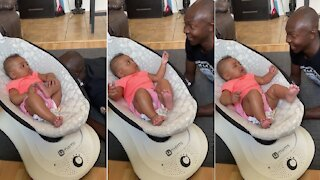 Sweet baby gets scared during game of peekaboo