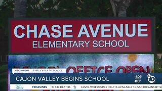Cajon Valley begins school