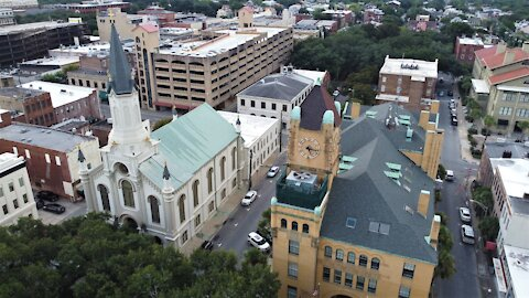 Savannah center from above