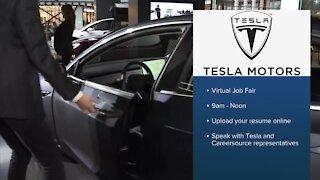 Tesla hosting virtual job fair for Palm Beach County positions