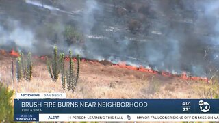 Brush fire burns near Chula Vista neighborhood