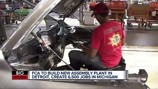 FCA to build new assembly plant in Detroit, create 6,500 jobs in Michigan