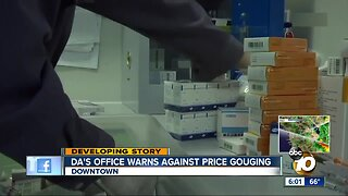 San Diego warns against coronavirus price gouging