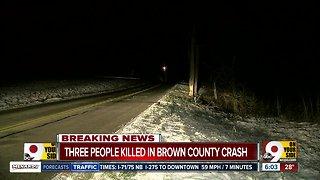 Three killed in Brown County crash