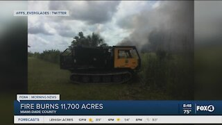 Wildfire burns in Miami Dade 70% contained