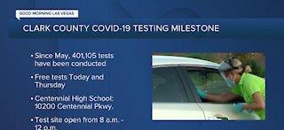 Clark County COVID-19 testing milestone