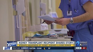 Kidney transplant recipient shares story to spread awareness of kidney disease