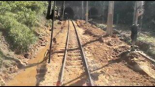 SOUTH AFRICA - Durban - Railway track still damaged (Videos) (gSV)