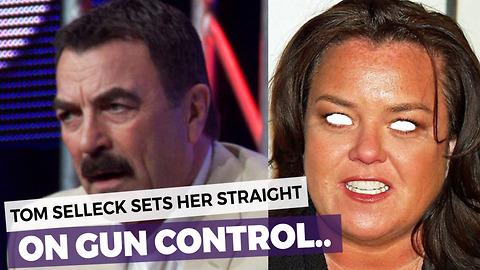 Tom Selleck Schools Rosie O'Donnell on Gun Control