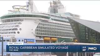 Royal Caribbean returns after simulated cruise