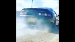 Toyota Soarer 1JZ Rolling Burnout