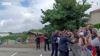 Slapped Hard: French President Emmanuel Macron slapped by an unknown guy